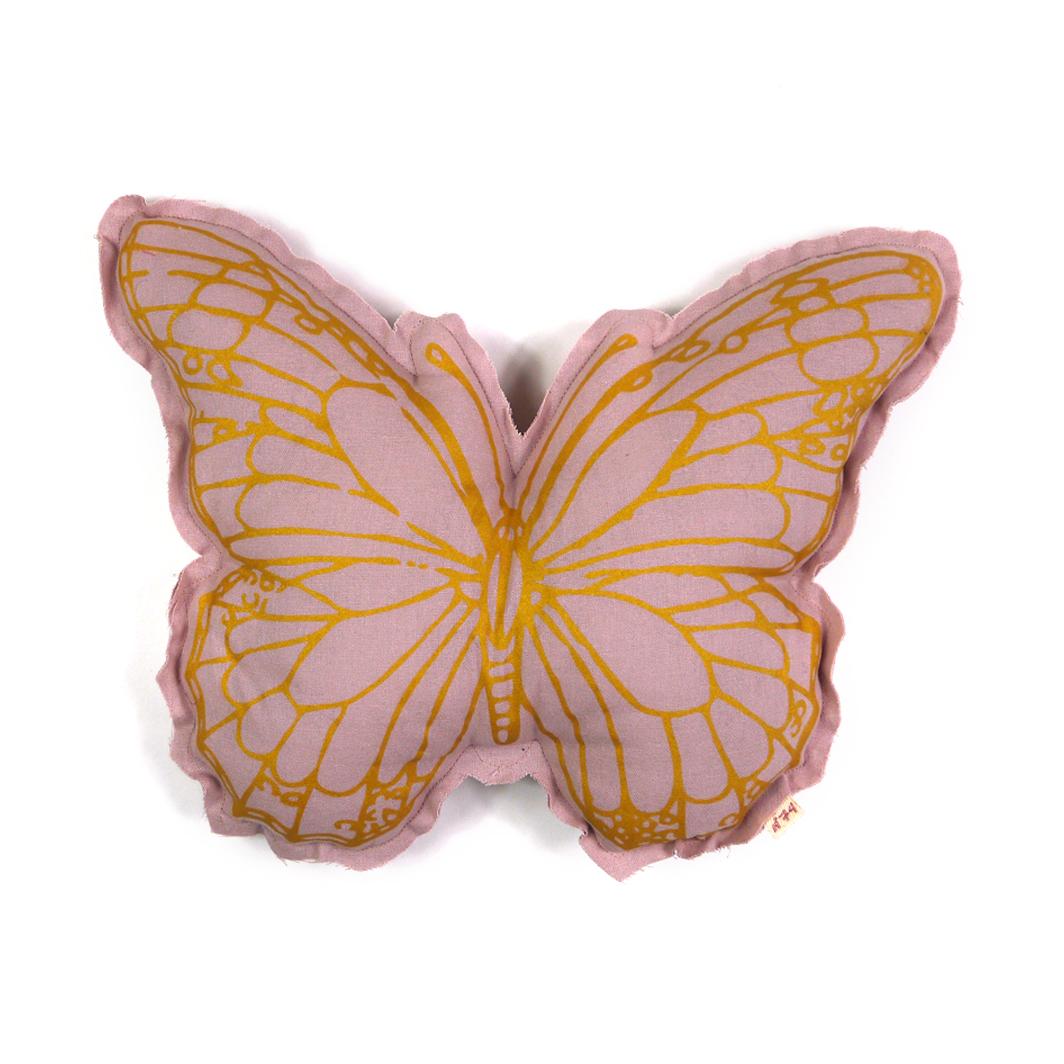 coussin papillon vieux rose num ro 74 pour chambre. Black Bedroom Furniture Sets. Home Design Ideas