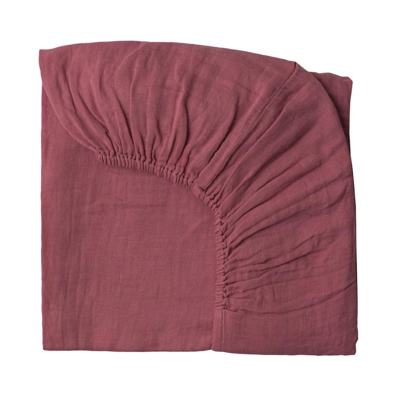 Drap housse lit b b rose baobab num ro 74 pour chambre for Drap housse rose