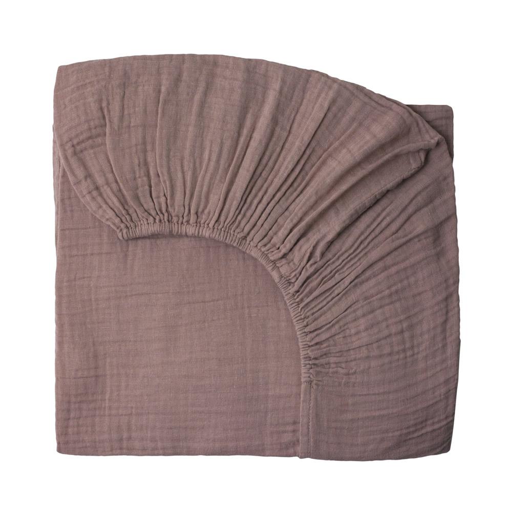 drap housse lit b b vieux rose num ro 74 pour chambre enfant les enfants du design. Black Bedroom Furniture Sets. Home Design Ideas