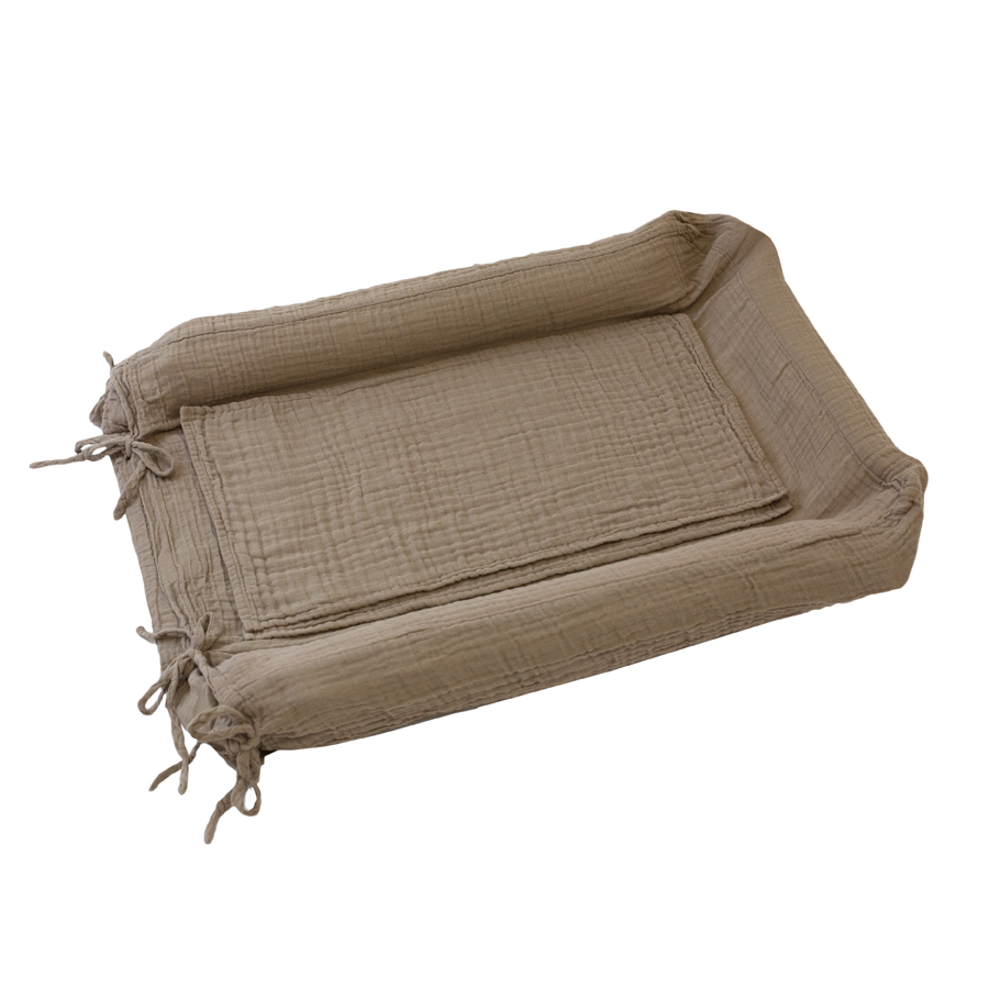 Housse de matelas langer beige num ro 74 pour chambre for Housse a langer