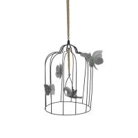 Cage à oiseaux décorative L - Argent