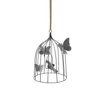 Cage à oiseaux décorative M - Argent