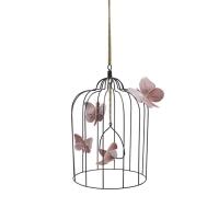 Cage à oiseaux décorative L - Vieux rose