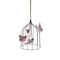 Cage à oiseaux décorative M - Vieux rose