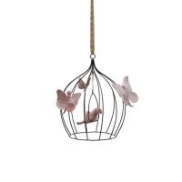 Cage à oiseaux décorative S - Vieux rose