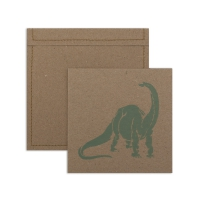 6 cartes invitation Dinosaure