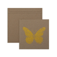 6 cartes invitation Papillon