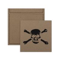 6 cartes invitation Pirate