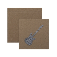 6 cartes invitation Rock
