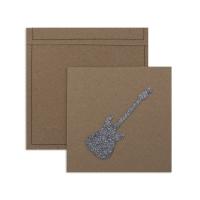 6 cartes invitation Rock