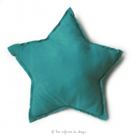 Coussin Etoile Turquoise