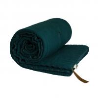 Couverture Gaze de Coton - Bleu Canard