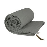 Couverture gaze de coton - Gris argent