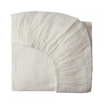 Drap housse lit b b blanc num ro 74 pour chambre enfant - Drap housse 60x140 pour bebe ...