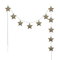 Guirlande étoiles irisées - Or