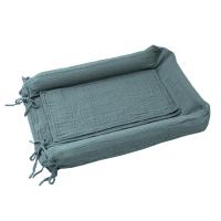 Housse de matelas à langer - Bleu gris