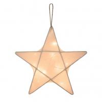 Lanterne étoile - Ecru