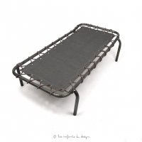 Lit de camp d'appoint Anthracite