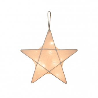 Petite lanterne étoile - Ecru