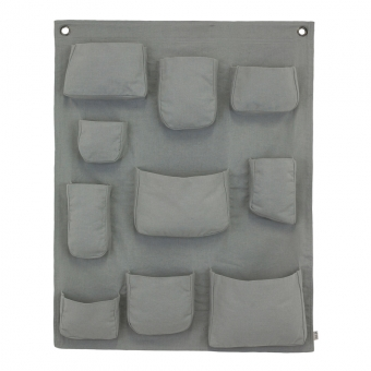 pochette murale gris num ro 74 pour chambre enfant les enfants du design. Black Bedroom Furniture Sets. Home Design Ideas