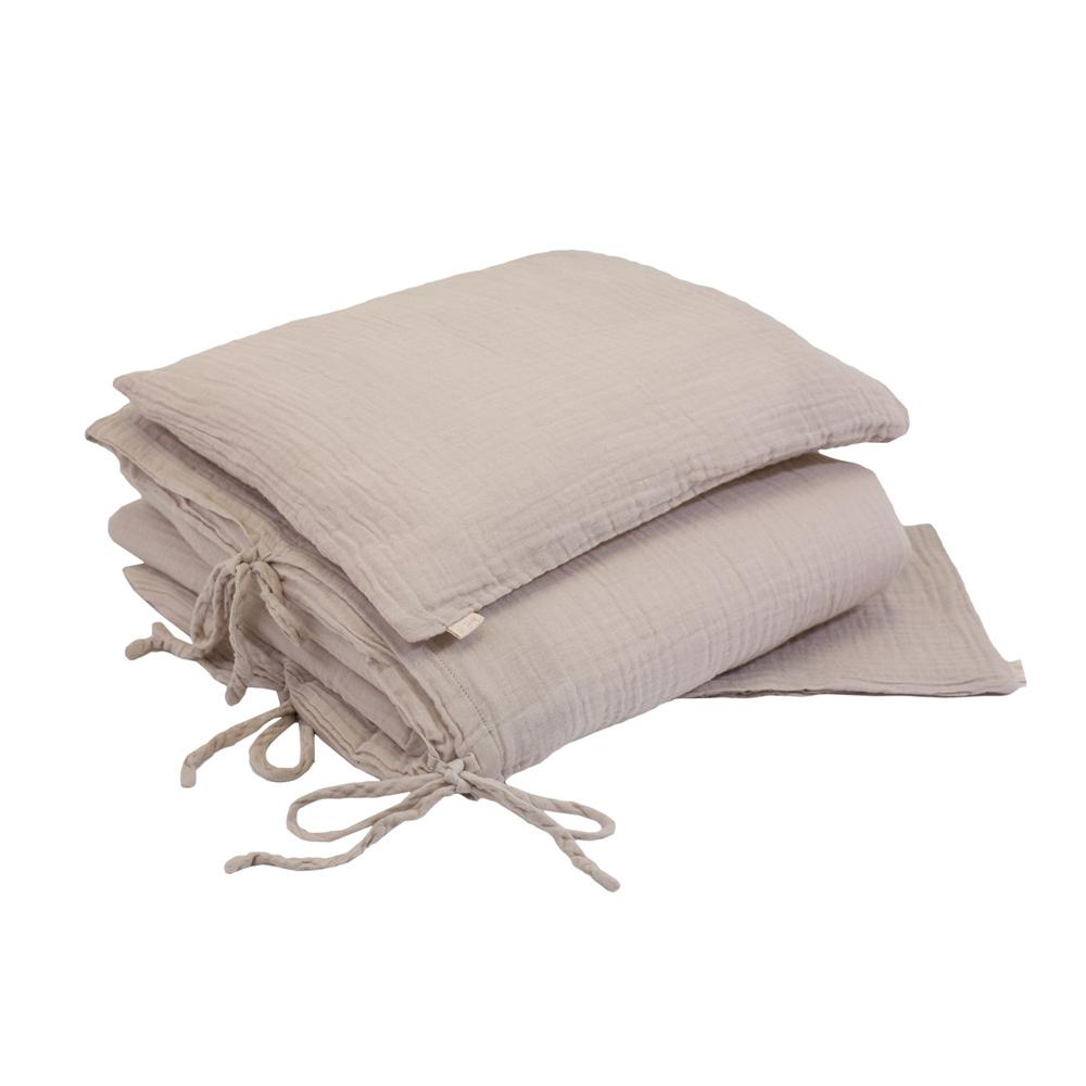 parure de lit gaze de coton rose poudr num ro 74 pour chambre enfant les enfants du design. Black Bedroom Furniture Sets. Home Design Ideas