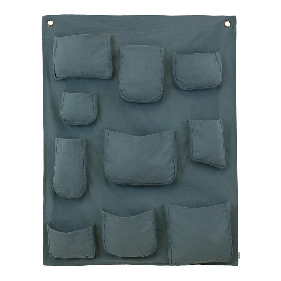 Pochette murale bleu gris num ro 74 pour chambre enfant - Rangement pochette murale ...