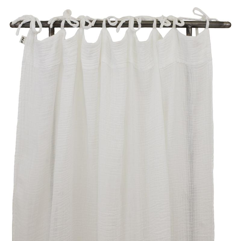 Rideau blanc num ro 74 pour chambre enfant les enfants du design - Rideau occultant bebe garcon ...