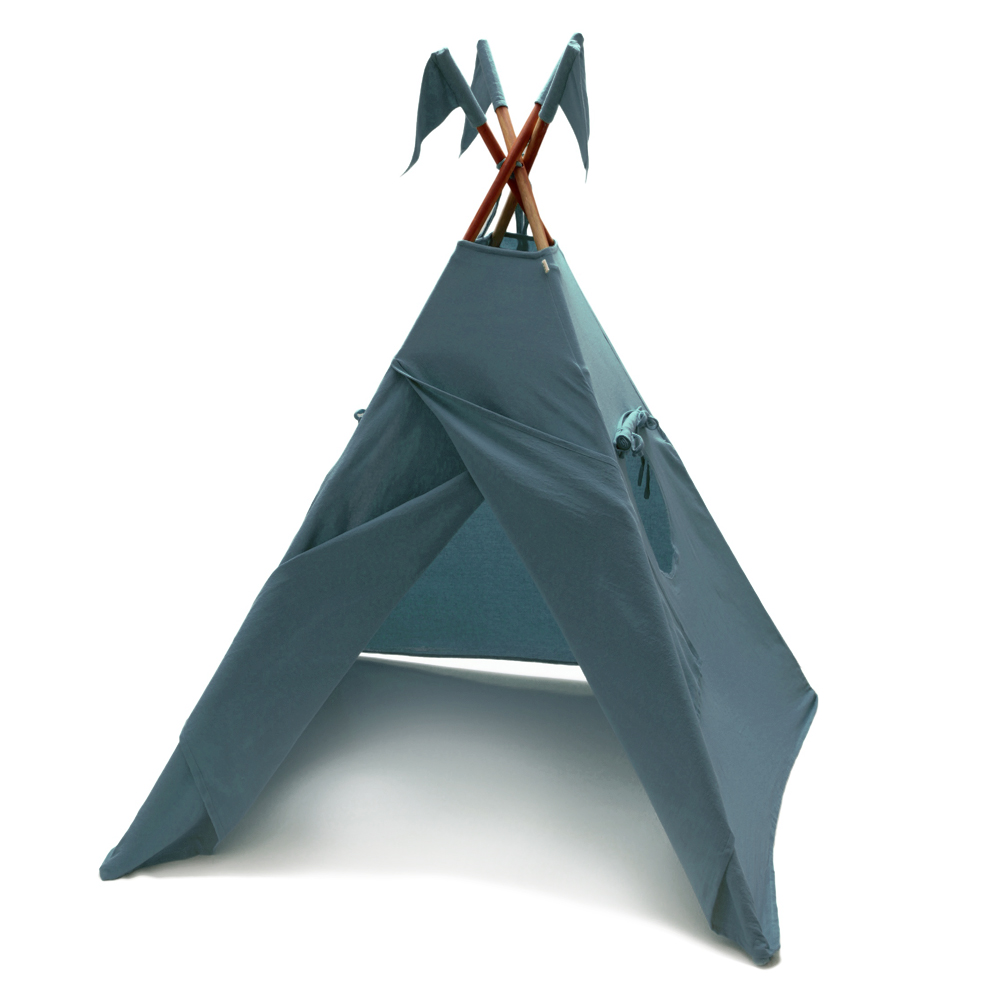 tipi bleu gris num ro 74 pour chambre enfant les enfants du design. Black Bedroom Furniture Sets. Home Design Ideas