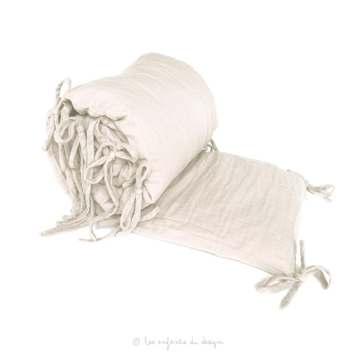 tour de lit en gaze de coton blanc num ro 74 pour chambre enfant les enfants du design. Black Bedroom Furniture Sets. Home Design Ideas