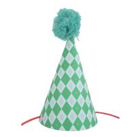 Chapeau de fête - Losange Vert à pois