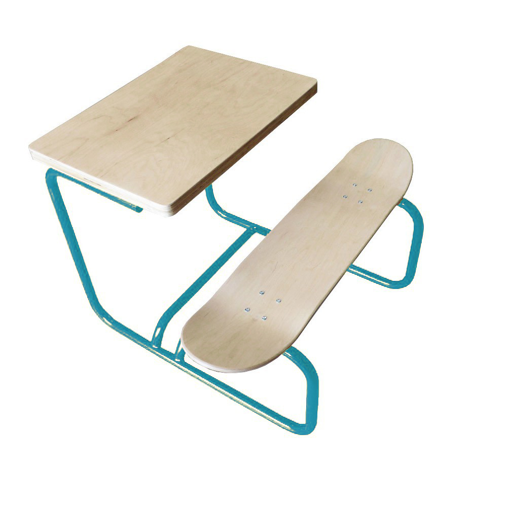 bureau skate turquoise le ons de choses pour chambre enfant les enfants du design. Black Bedroom Furniture Sets. Home Design Ideas