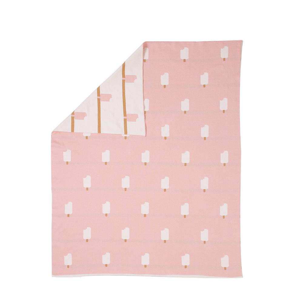 plaid ice cream rose pastel woouf pour chambre enfant les enfants du design. Black Bedroom Furniture Sets. Home Design Ideas