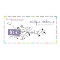 Chèque cadeaux 10 €