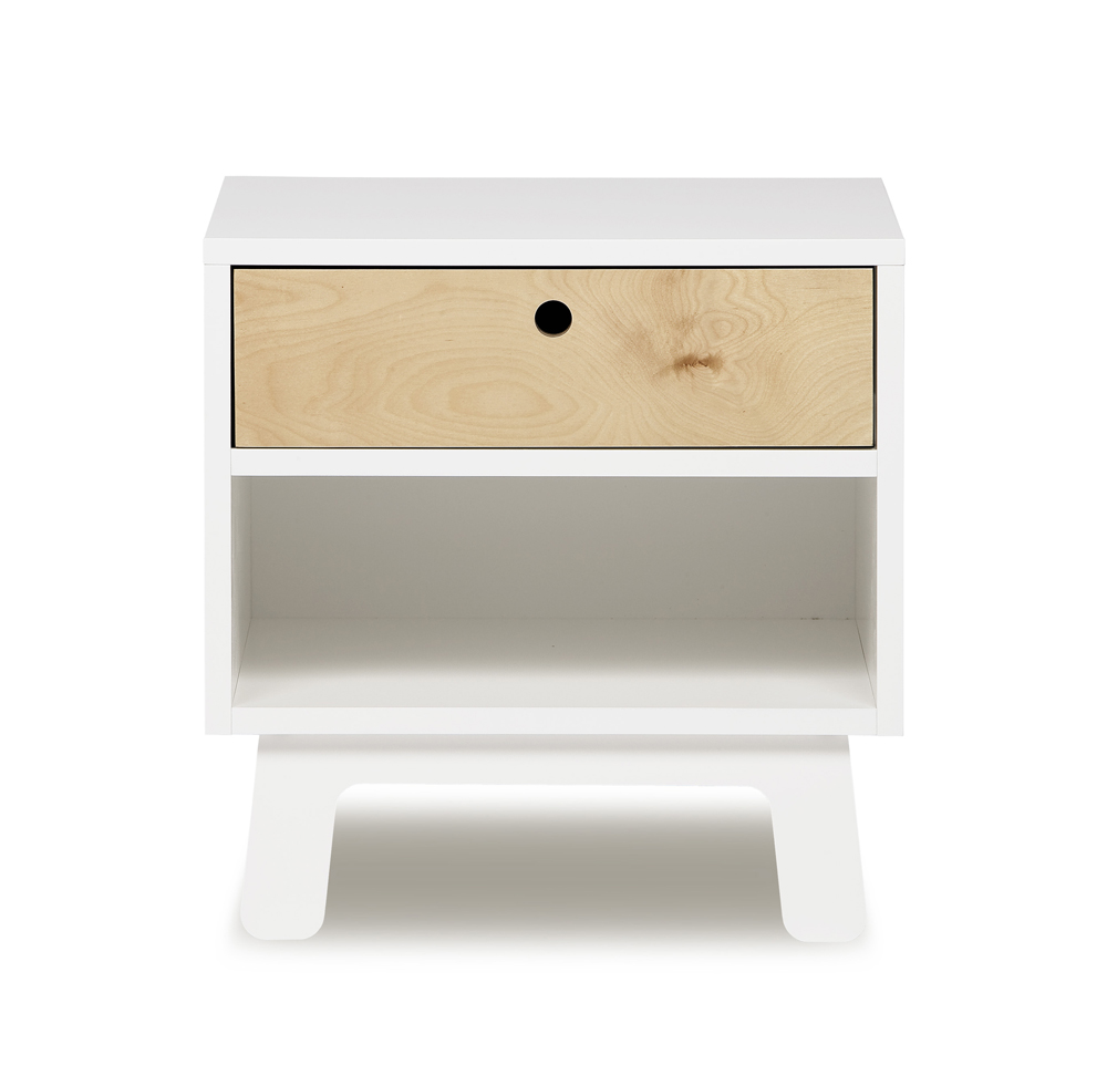 Table de nuit sparrow blanc oeuf nyc pour chambre enfant for Table de chevet bebe