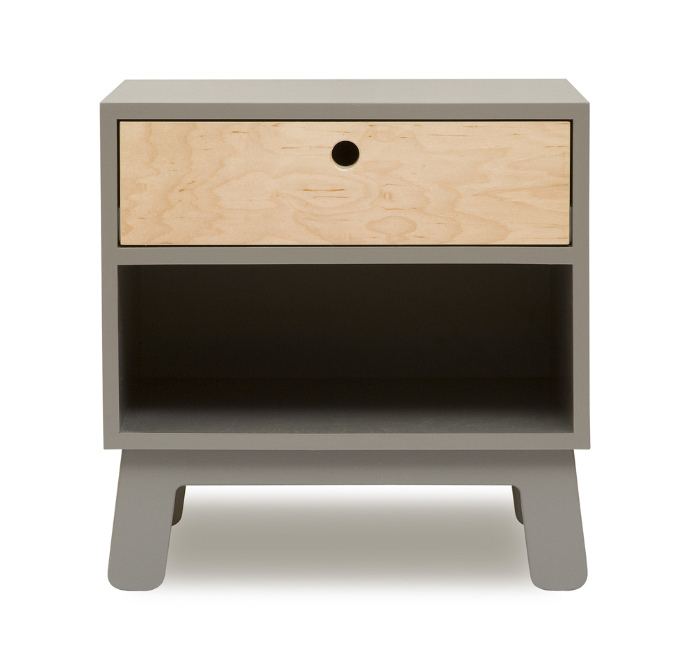 Table de nuit sparrow gris oeuf nyc pour chambre enfant les enfants du design - Table de chevet contemporaine design ...