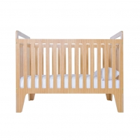 Lit bébé design Nona - Naturel