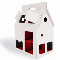 Maison de poupée en carton Mobile Home - Blanc