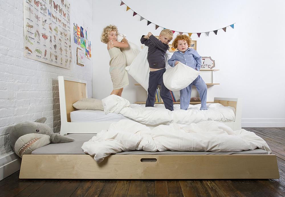 Tiroir lit gigogne pour lit enfant Sparrow - Bouleau Oeuf NYC pour ...