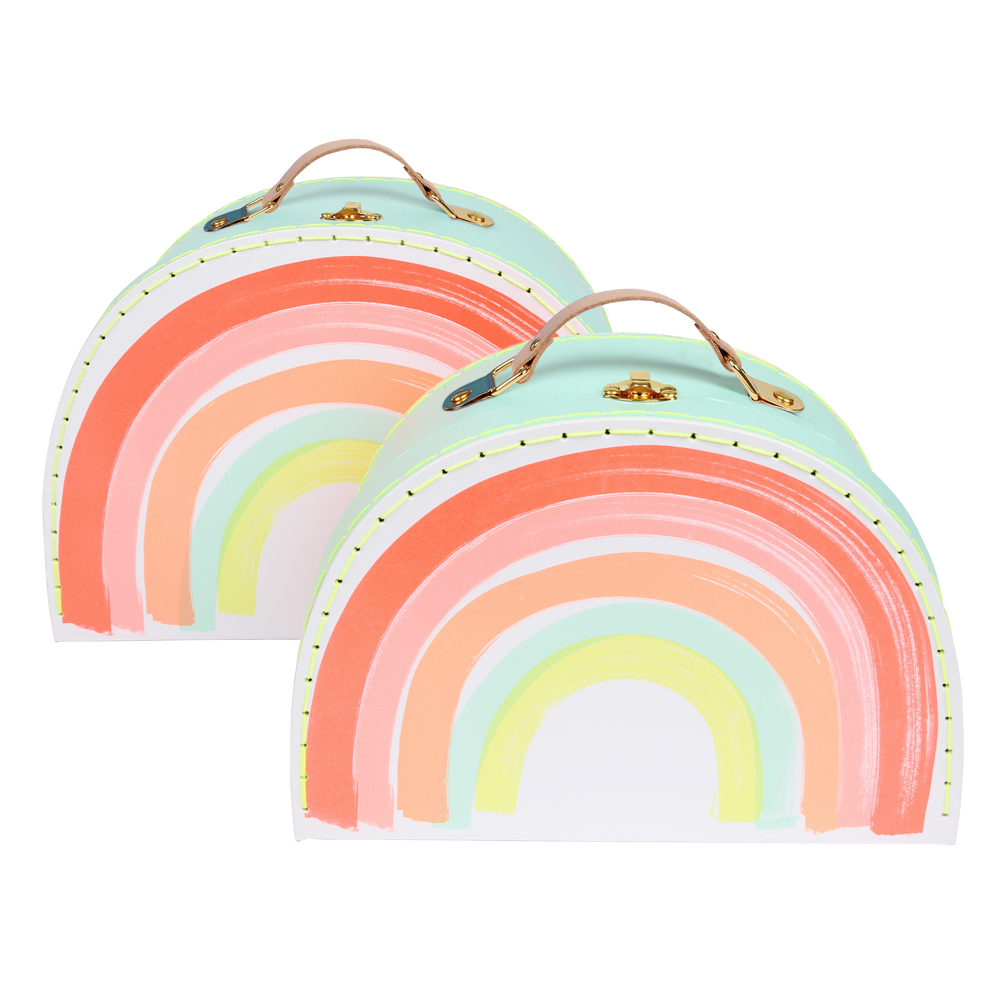 2 valises arc en ciel multicolore meri meri pour chambre for Les enfants design