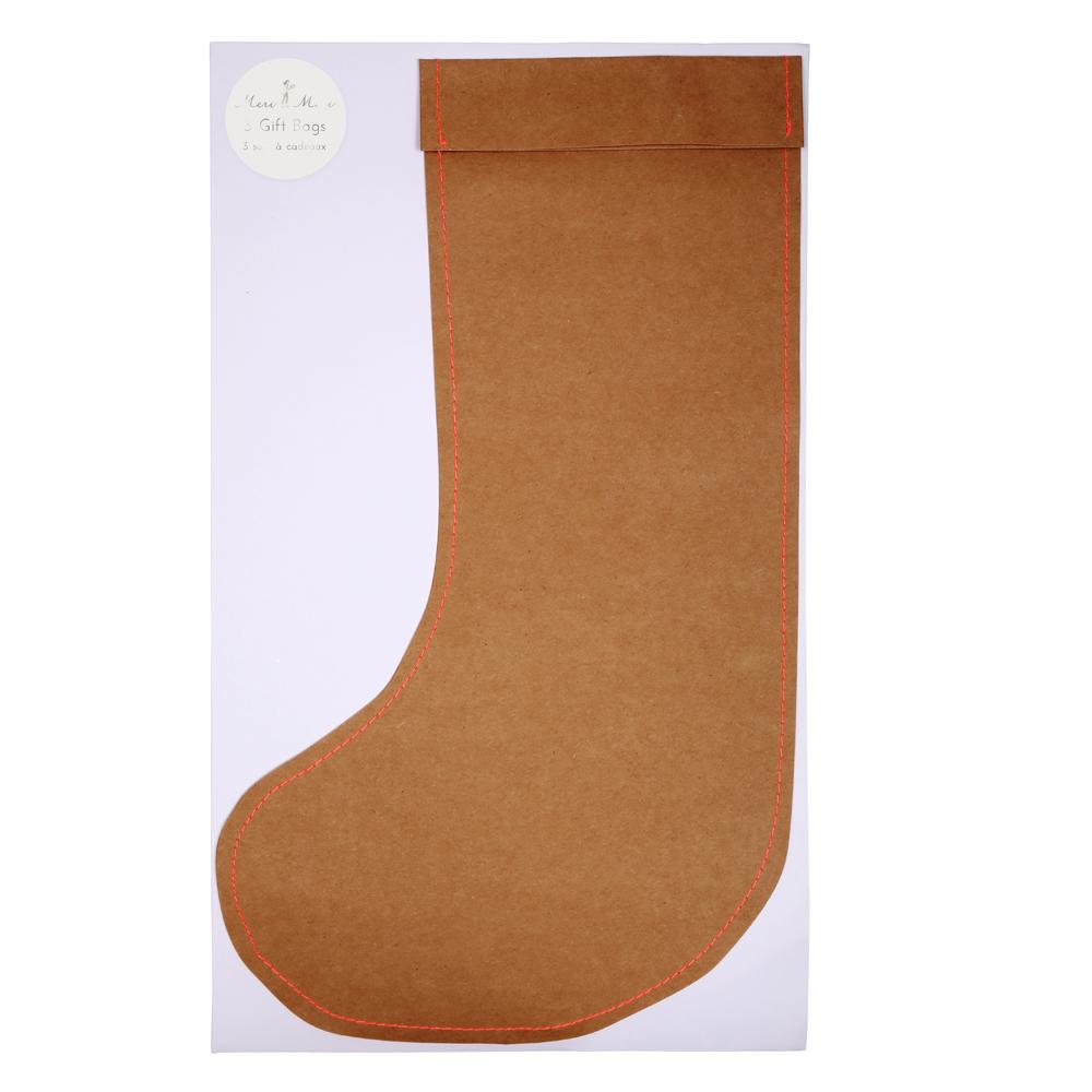 3 grandes chaussettes cadeaux brun meri meri pour chambre enfant les enfants du design. Black Bedroom Furniture Sets. Home Design Ideas