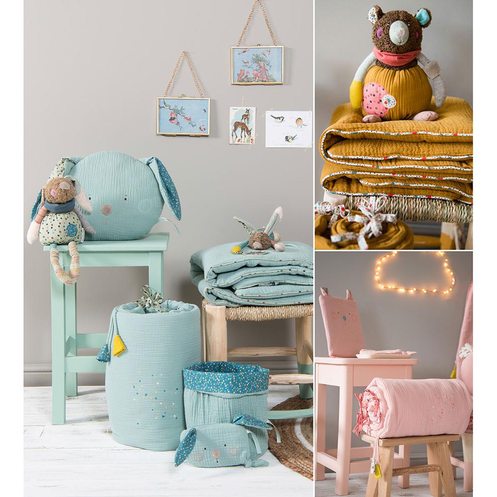 top beautiful plaid les jolis trop beaux ocre moulin roty pour chambre enfant les enfants du. Black Bedroom Furniture Sets. Home Design Ideas