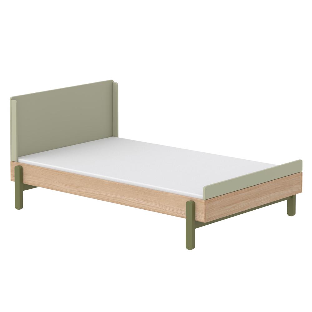 lit simple 140 x 200 cm t te de lit haute popsicle ch ne. Black Bedroom Furniture Sets. Home Design Ideas