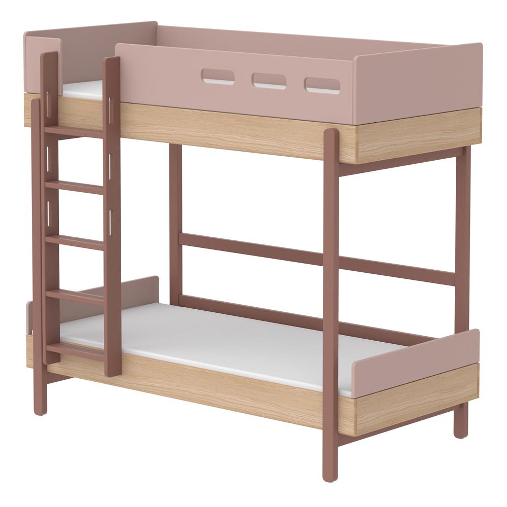 lit superpos chelle droite popsicle ch ne cherry flexa popsicle pour chambre enfant les. Black Bedroom Furniture Sets. Home Design Ideas