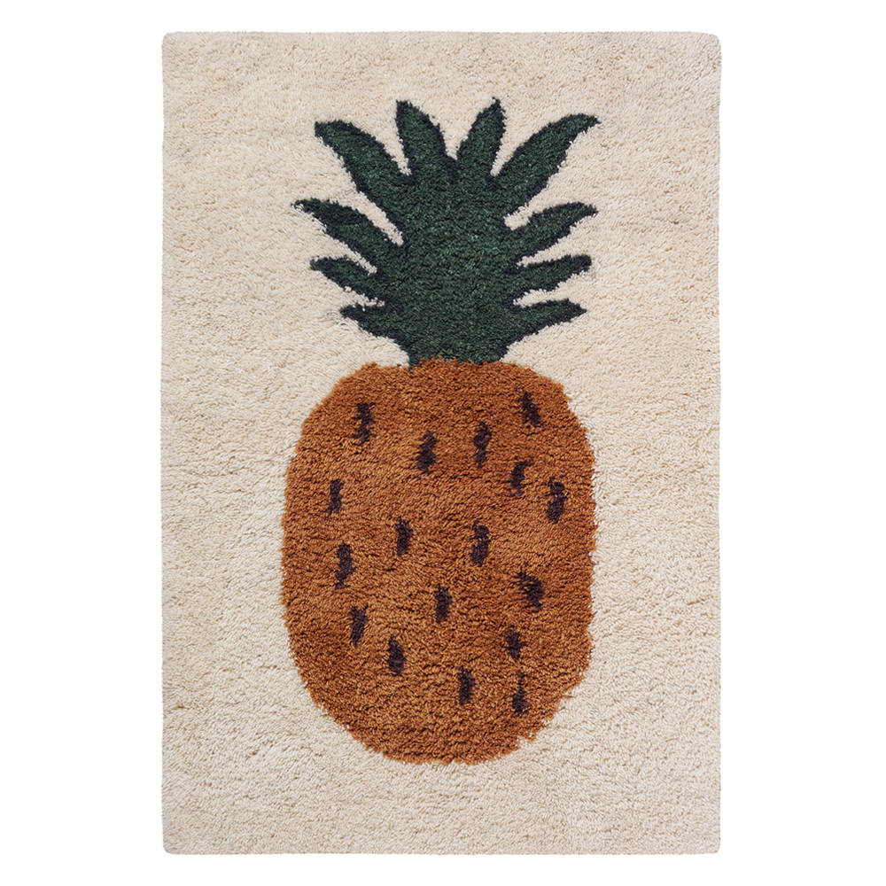 tapis large ananas fruiticana ferm living pour chambre. Black Bedroom Furniture Sets. Home Design Ideas