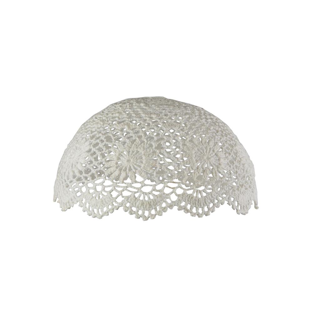 abat jour en crochet ivoire rjb stone pour chambre. Black Bedroom Furniture Sets. Home Design Ideas