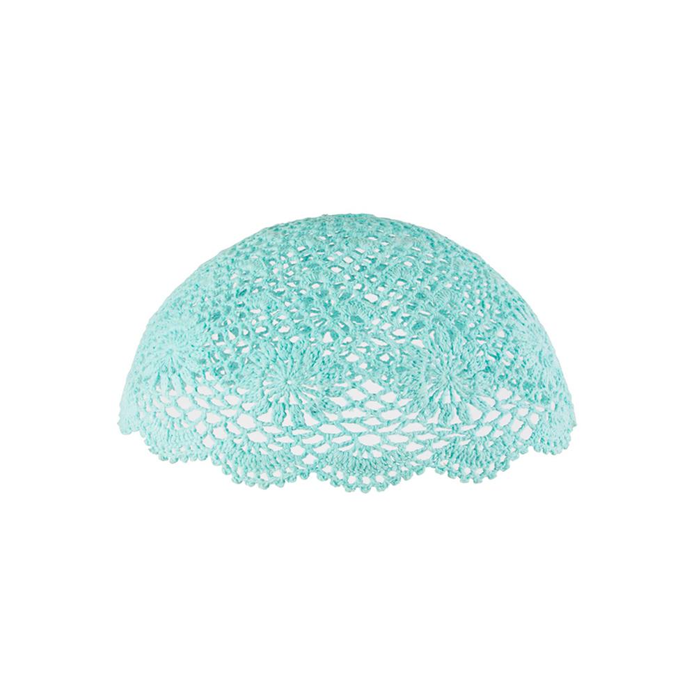 abat jour en crochet turquoise rjb stone pour chambre. Black Bedroom Furniture Sets. Home Design Ideas