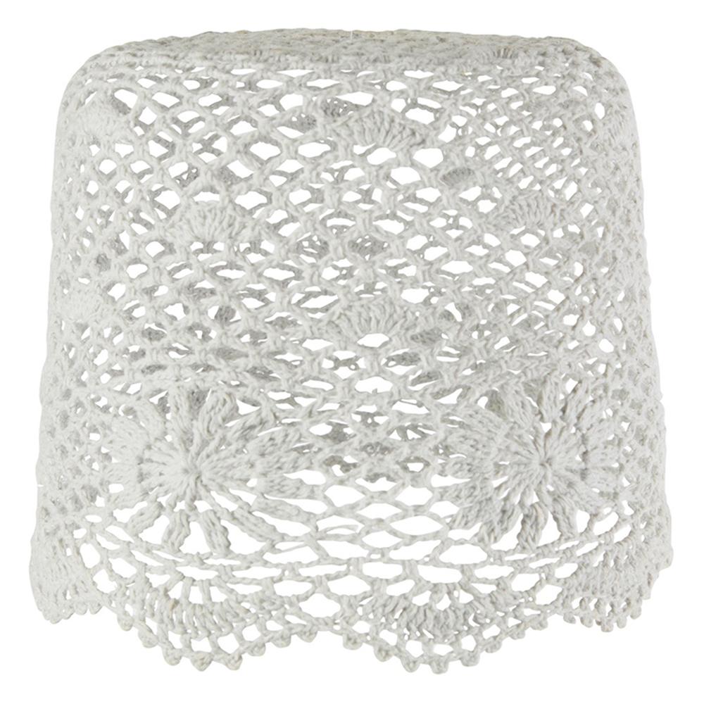abat jour tambour en crochet gris clair rjb stone pour. Black Bedroom Furniture Sets. Home Design Ideas