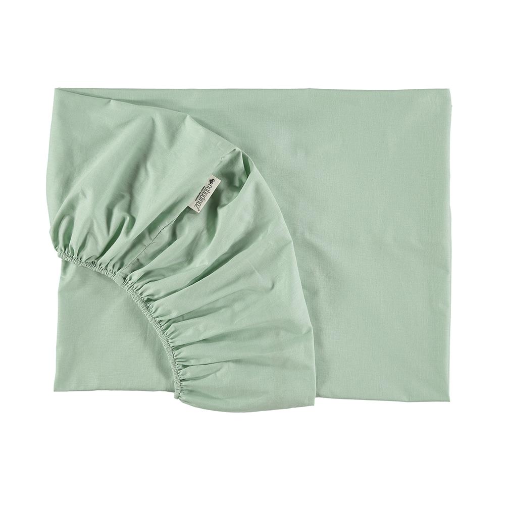 Drap housse alhambra mint nobodinoz pour chambre enfant for Taille drap housse