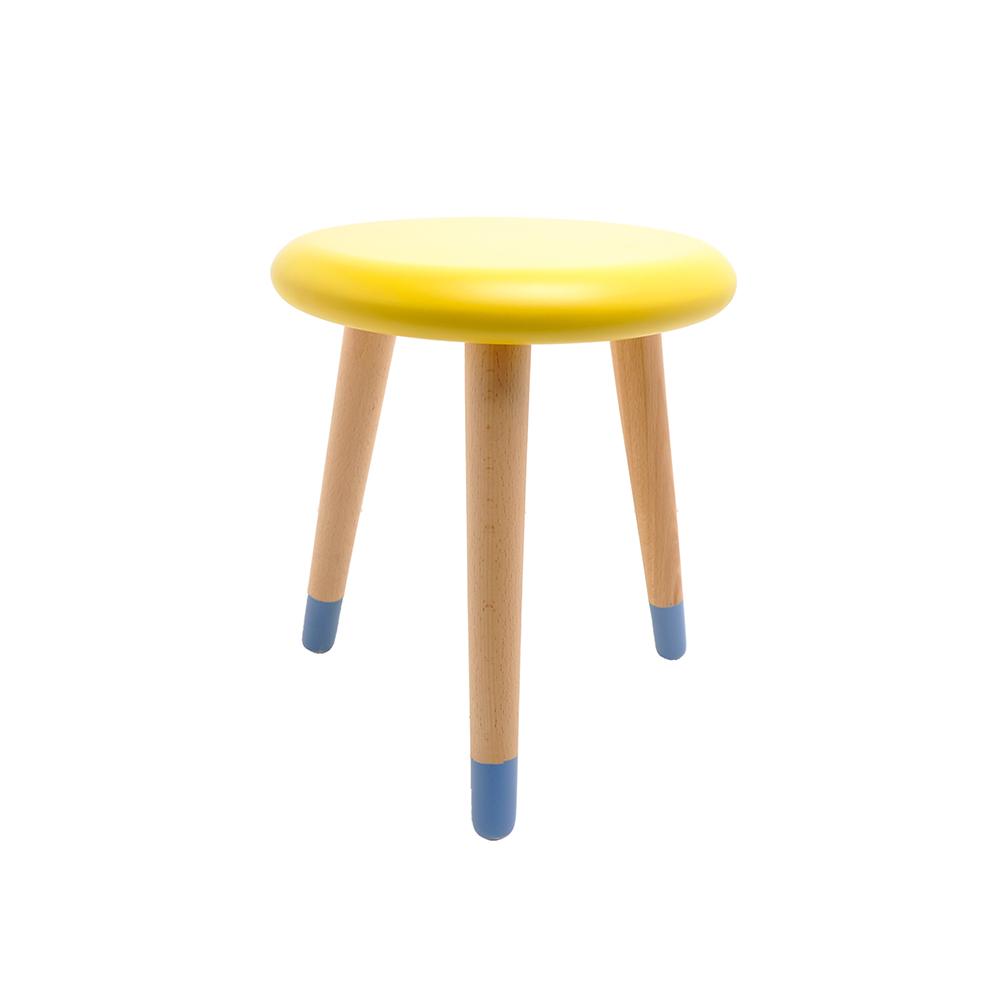 tabouret enfant alice jaune citron rose in april pour. Black Bedroom Furniture Sets. Home Design Ideas