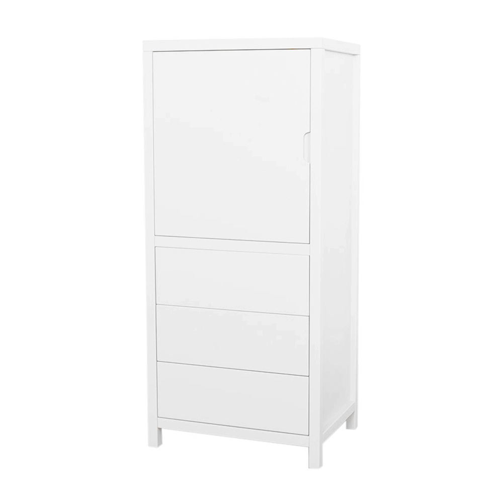 armoire 1 porte joy small blanc quax pour chambre enfant les enfants du design. Black Bedroom Furniture Sets. Home Design Ideas